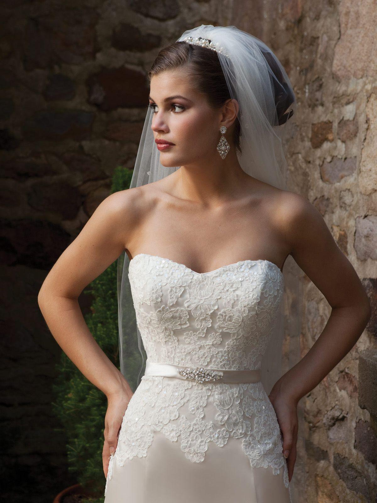 kathy ireland for Mon Cheri Wedding Dresses Style