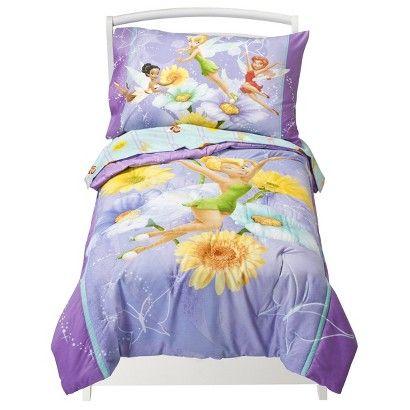 Disney® Tinkerbell 4 Piece Bedding Set - Toddler at Target ...