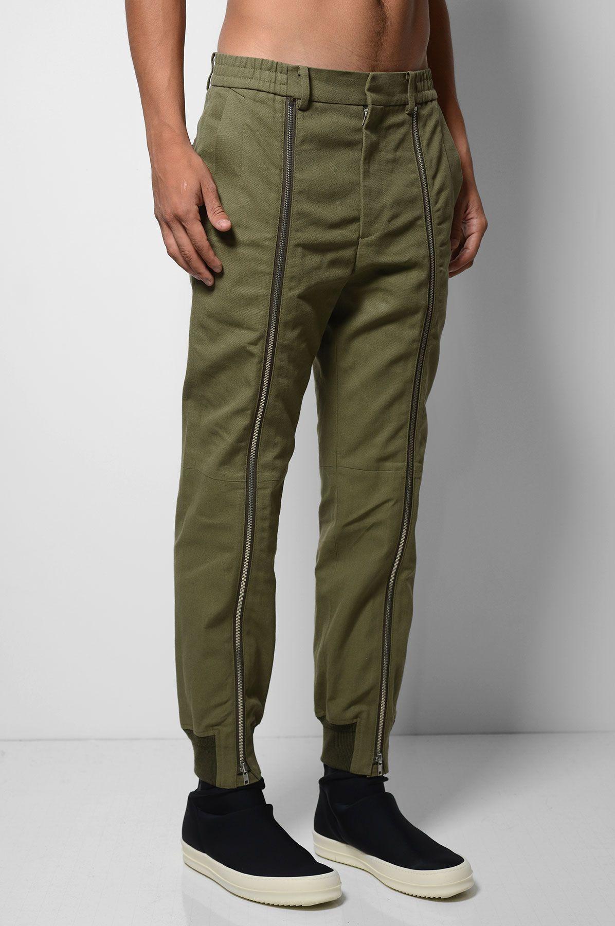 JUUN J Khaki Zip Trousers | Bespoke