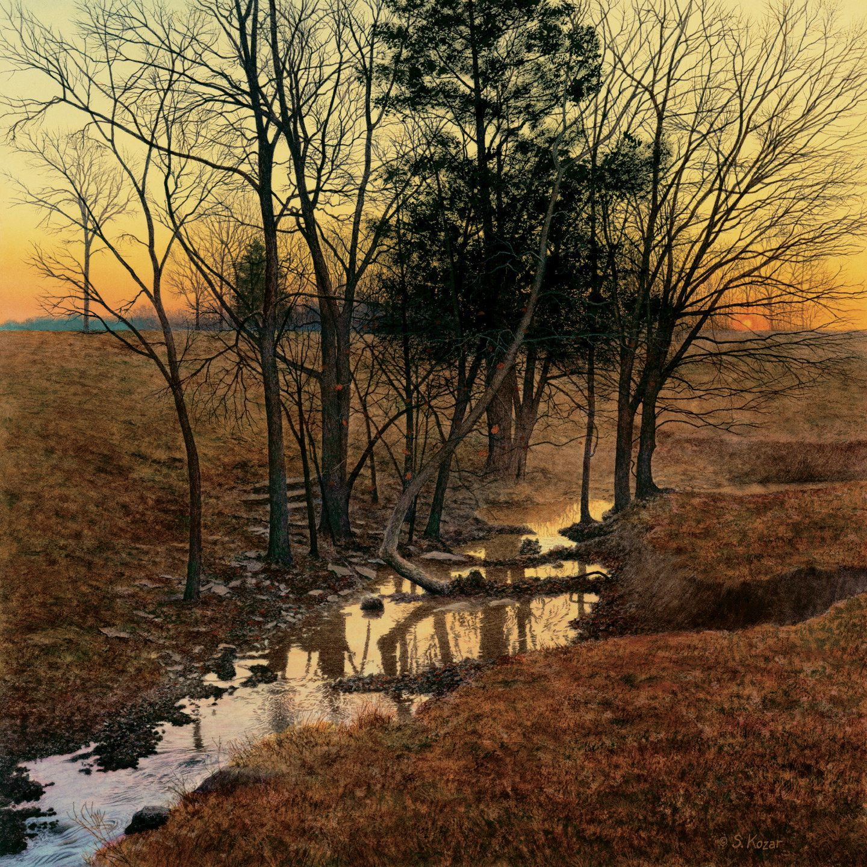 Sunrise Creek By Steven Kozar Giclee Print Landscape Art