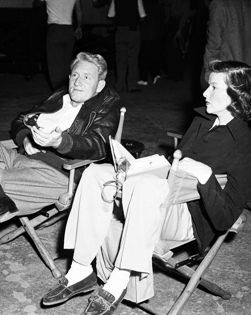 "Katharine Hepburn and Spencer Tracy on the set of ""State of the Union"", 1948"