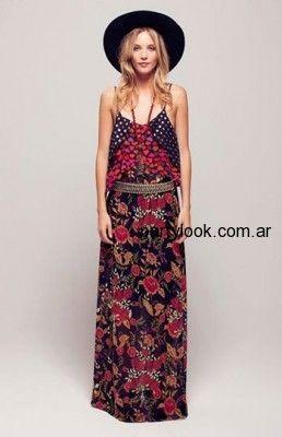 Vestido Largo Estampado Estilo Hippie Silvina Ledesma Vestidos Verano 2016 Vestidos De Fiesta Verano Vestidos De Fiesta Vestidos De Verano