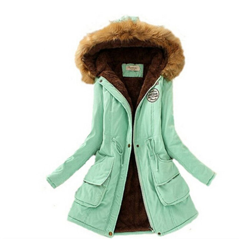 2017 Delle Donne di Inverno Parka Cappotto Giacche Donna Addensare Caldo Inverno Collo di pelliccia Plus Size Parka per Le Donne Lungo Inverno caldo Parka
