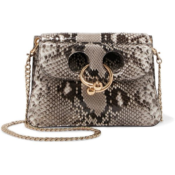 85fec7917cbe3 J.W.Anderson Pierce mini python shoulder bag (31.988.135 IDR) ❤ liked on  Polyvore featuring bags, handbags, shoulder bags, shoulder hand bags, cell  phone ...