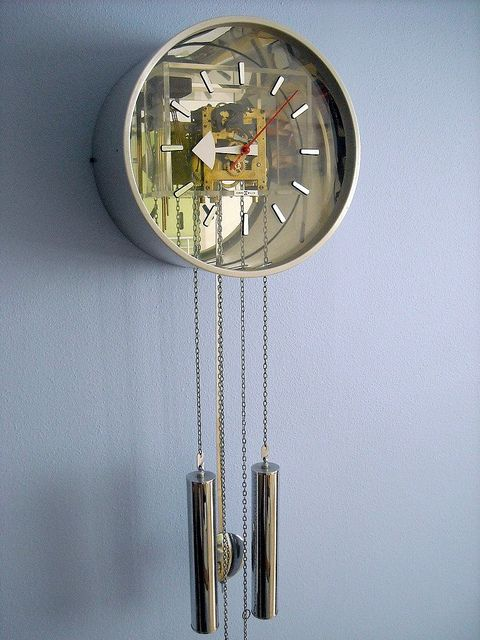 george nelson pendulum wall clock made in germany for howard miller c
