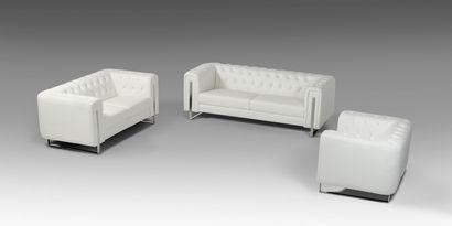 Vig Furniture Divani Casa Salvia Modern White Leatherette Sofa Set