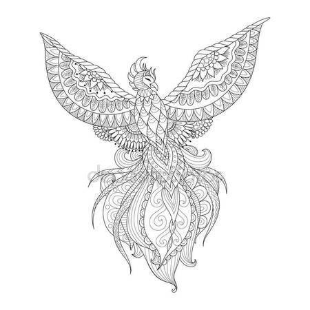 Zendoodle diseño de Ave Fénix del tatuaje, diseño de la camiseta ...