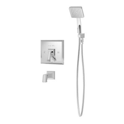 Symmons Oxford 1-Handle 1-Spray Tub and Shower Faucet with Handshower in Satin Nickel-S-4204-STN - The Home Depot