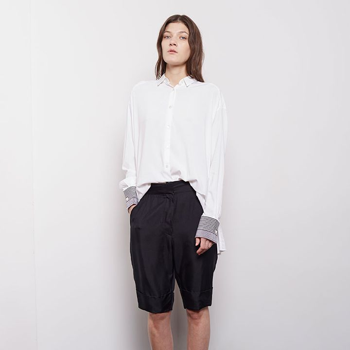 Acne Studios / Saviour Silk Twill Trouser Shorts