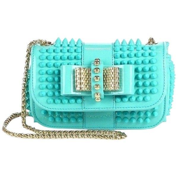 Christian Louboutin Pre-owned - Turquoise Leather Handbag XNGPnU4q4