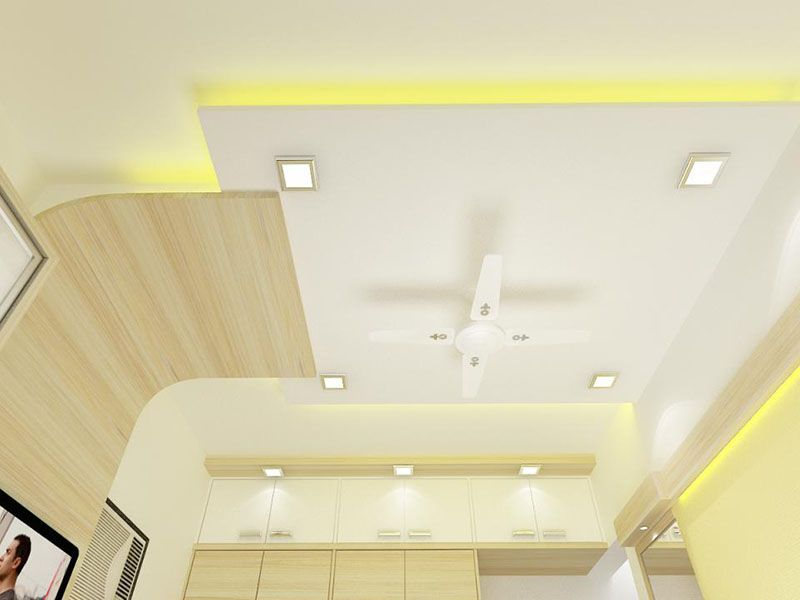 Luxurious Bedroom Interior Ideas With Yellow Lighting At Ceiling Design Comfortable Atmosphere
