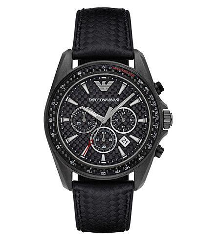 EMPORIO ARMANI Black Gunmetal Watch. #emporioarmani #womens fashion watches