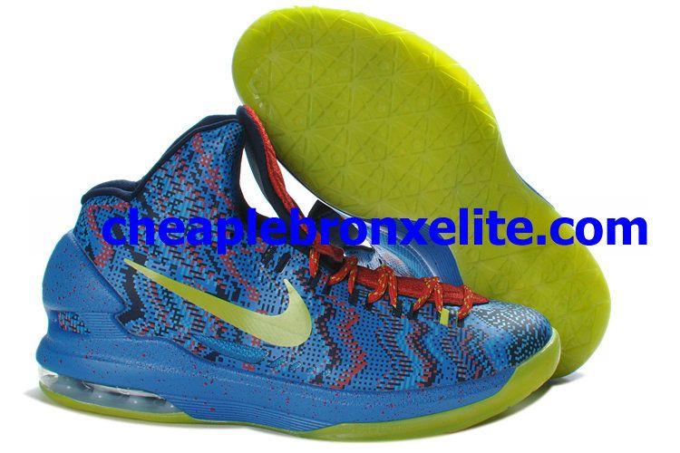 388f9b9b2b89 Nike Zoom KD V Cheap Hyper Blue Atomic Green Photo Blue Challenge Red  554988-401