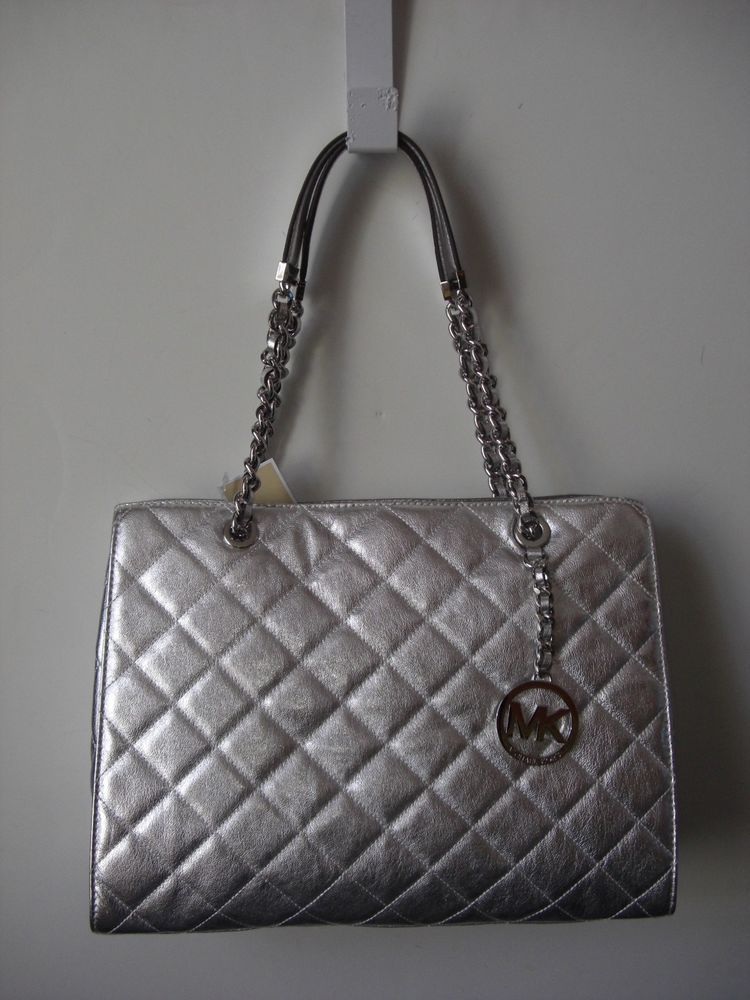 b8828686c2a4 Buy michael kors large tote silver   OFF39% Discounted