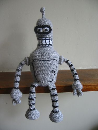 Bender Bending Rodriguez - Free Amigurumi Pattern ( See Subpages Charts on the right side)