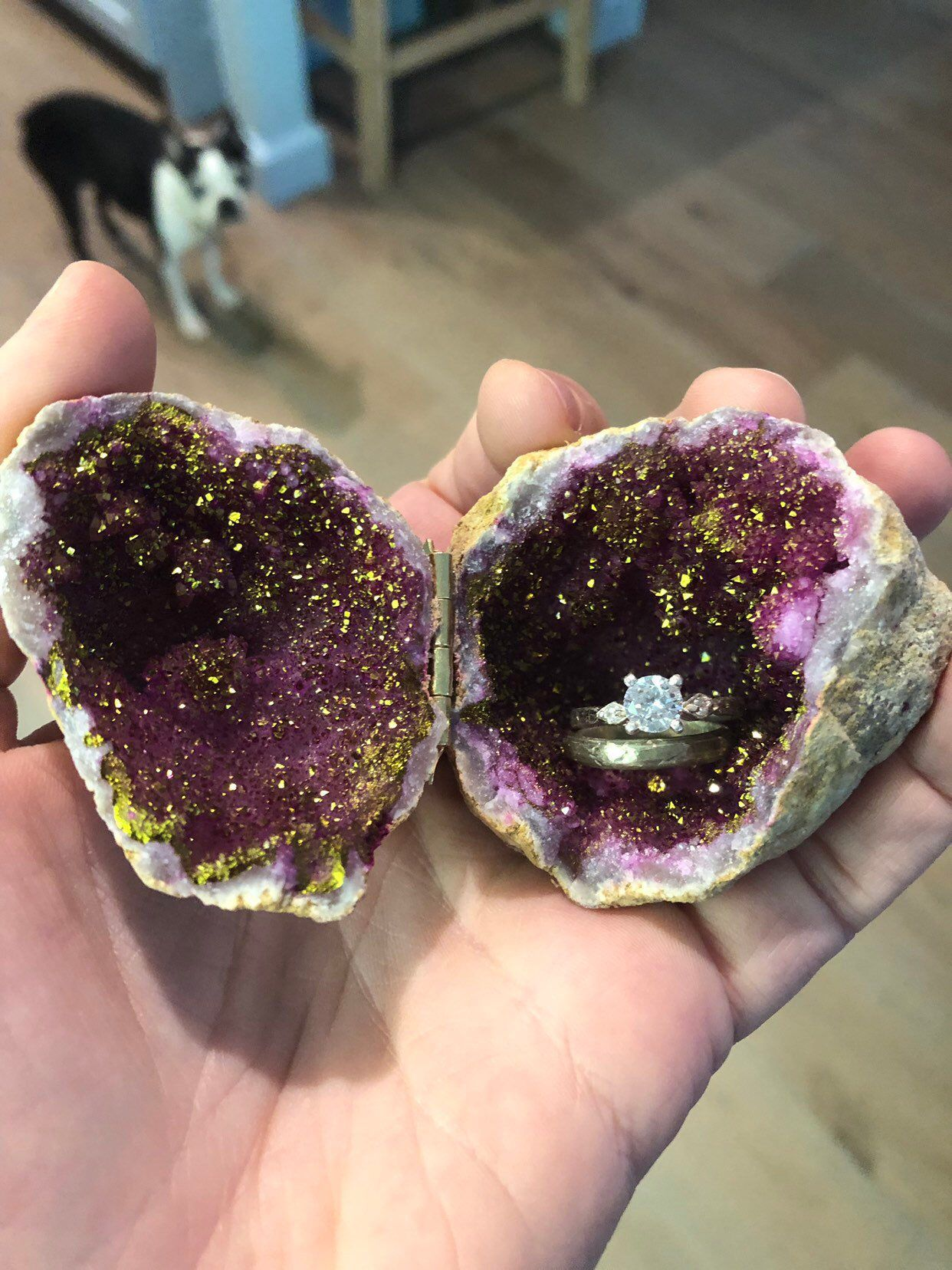 Excited To Share This Item From My Etsy Shop Pink Geode Ring Box