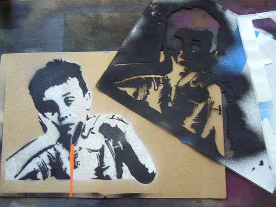 Creating Complex Spraypaint Stencils by Hand | DIY Crafts