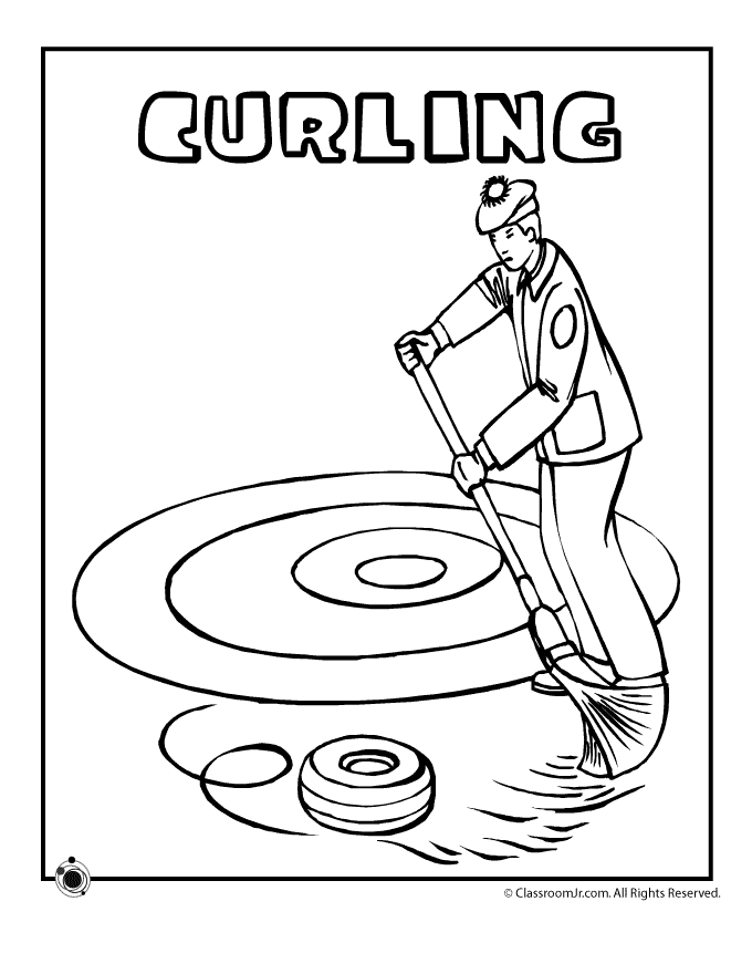 Curling Coloring Page  Woo! Jr. Kids Activities  Sports coloring