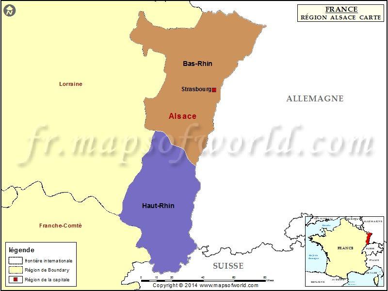 Carte Lalsace.Carte De L Alsace Carte De France Alsace Map France