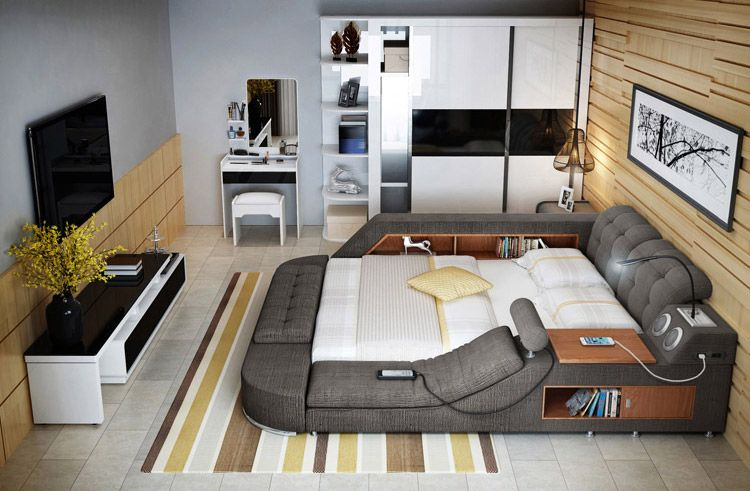 The Ultimate Bed With Integrated Mage Chair Speakers And Desk Multifunctional Furniture Unusual