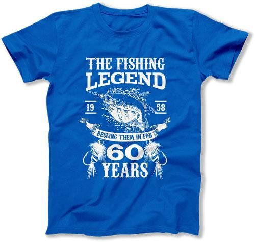 60th Birthday Gifts For Men Fishing T Shirt Him Bday Present Dad Custom TShirt The L