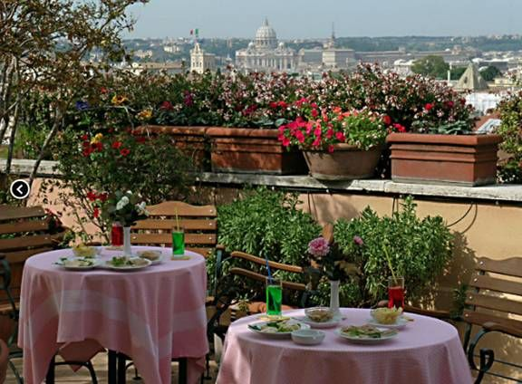 Rome Restaurant Dining Cafe Bar With A View Italy Rome