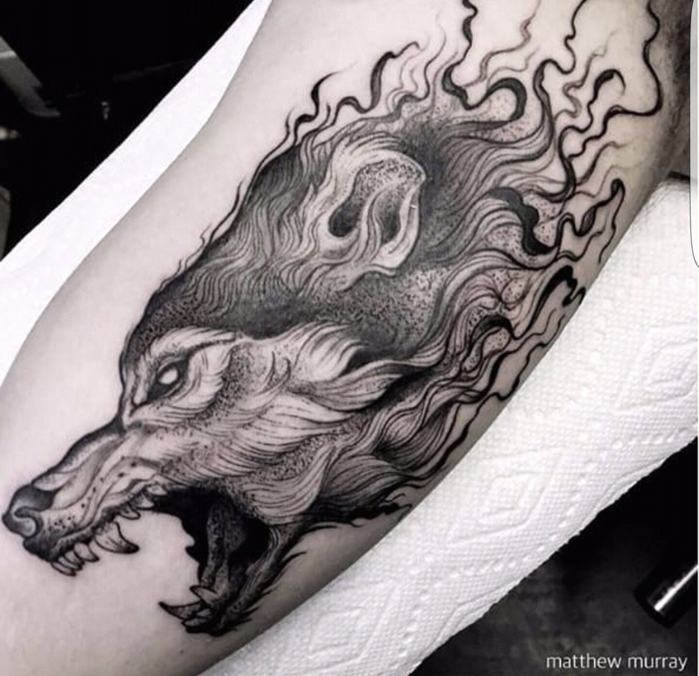 Wolftattoo Tattoo Tattooidea Tattoosketch Tattoodesi Tatto Temporary Sticker Hb577 51w 79