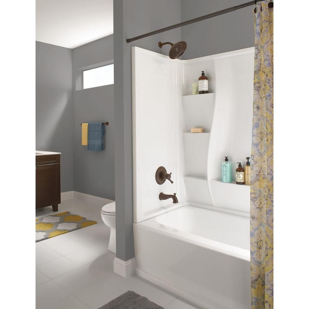 Delta Clic 400 32 In X 60 3 Piece Direct To Stud Tub Surround High Gloss White
