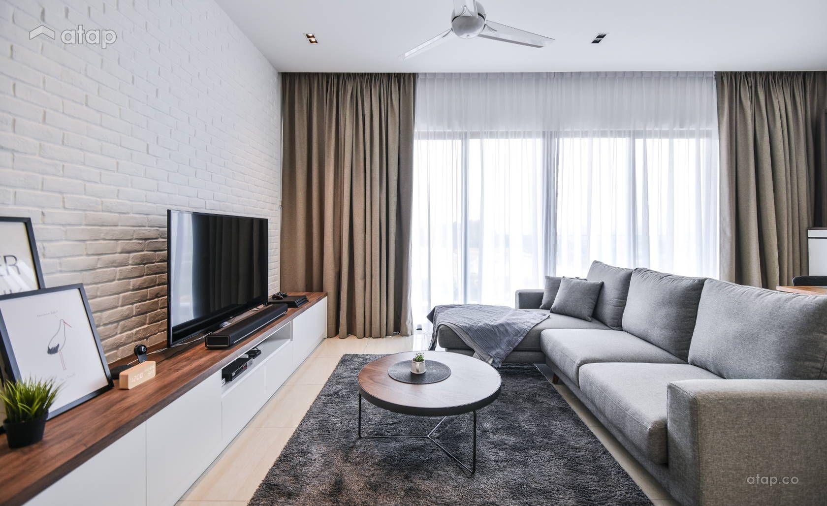 Contemporary Minimalistic Living Room Condominium Design Ideas