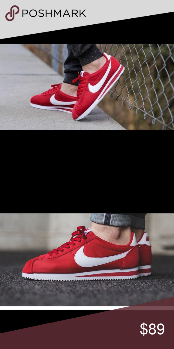 best website 94312 a6ac3 New Nike Classic Cortez premium nylon size 8 Brand new Nike Cortez classic  premium nylon Size 8 New in box University red White Nike Shoes Sneakers