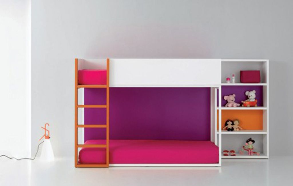 Modern portable bunk bed designs for cool and funky kids for Modern kids bunk beds