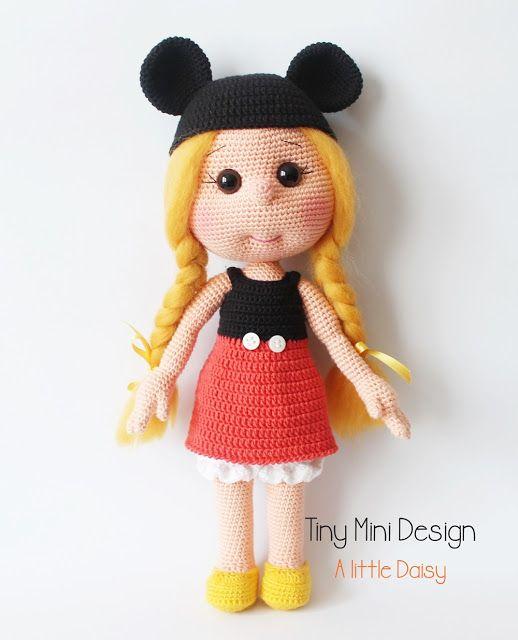 Amigurumi Bayan Ayı Yapılışı-Amigurumi Miss Bear Free Pattern - Tiny ...