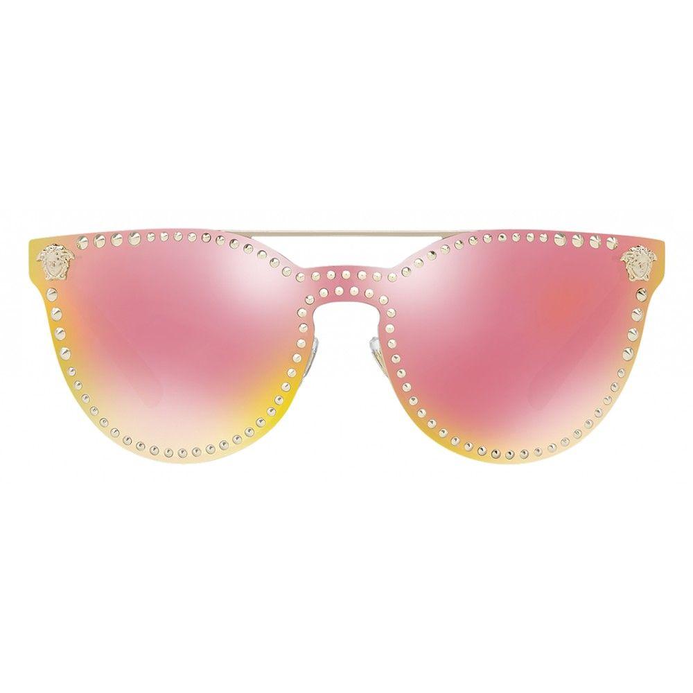 0770503b08963 Versace - Sunglasses Versace Mirror Stud - Rose - Sunglasses - Versace  Eyewear - Avvenice