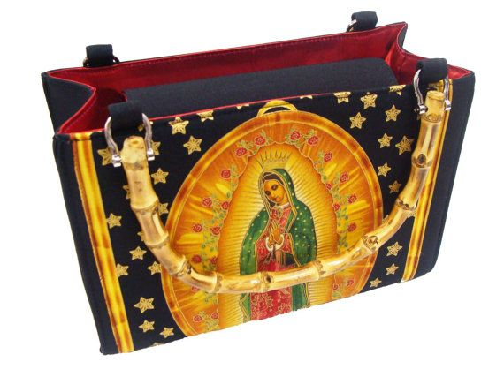 Lady Guadalupe Virgin Mary Box Handbag by HandmadeFashion