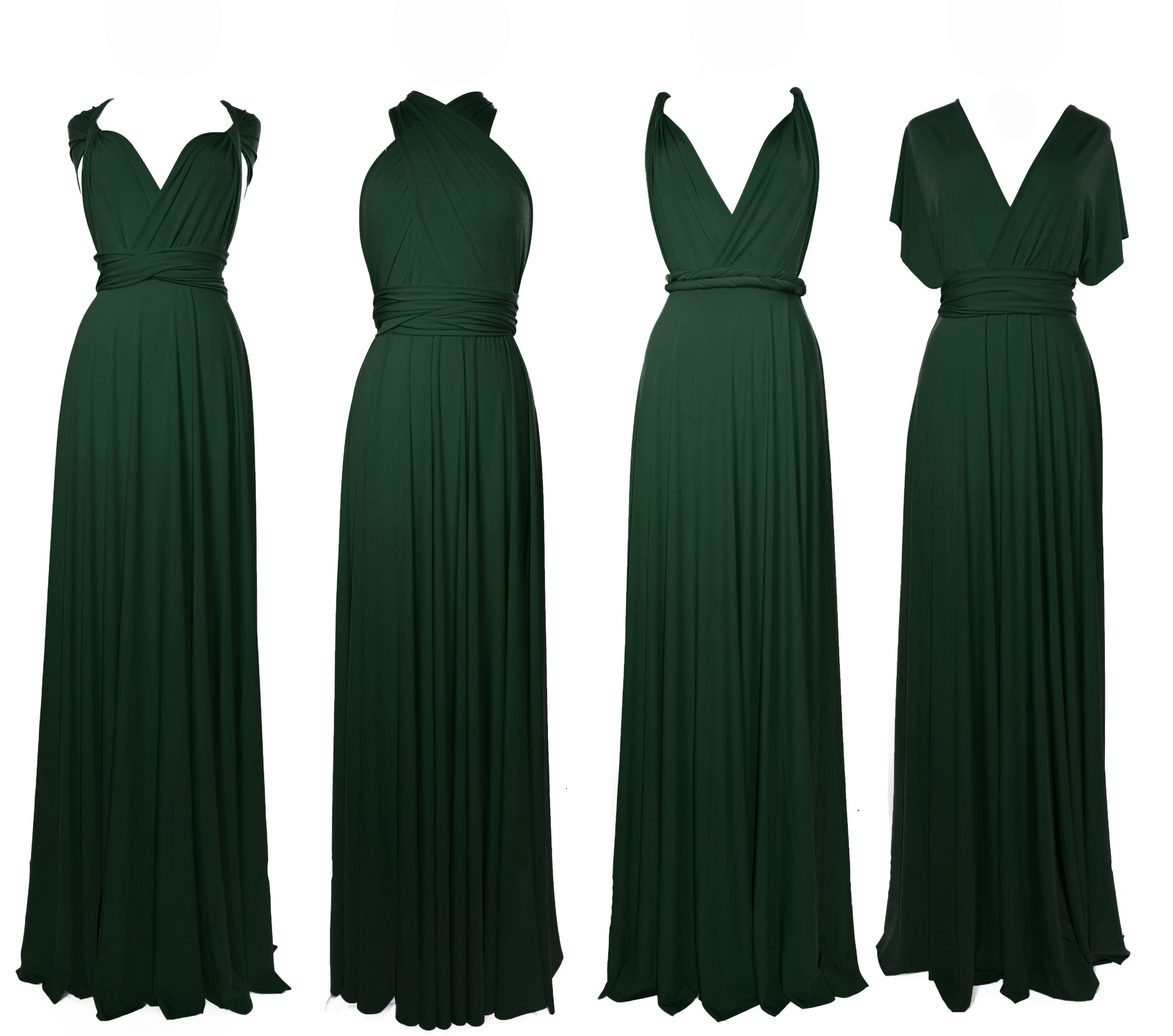 Infinity Dress Dark Green