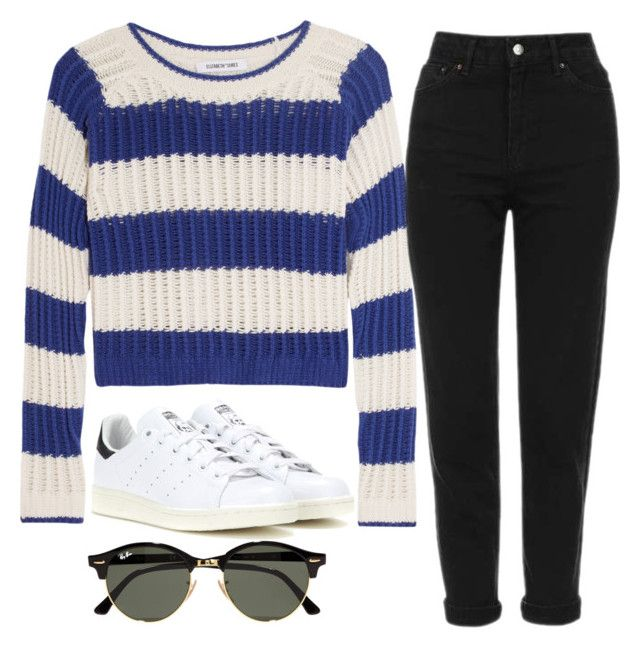 """""""London"""" by lschill1 on Polyvore featuring Elizabeth and James, Topshop, adidas and Ray-Ban"""