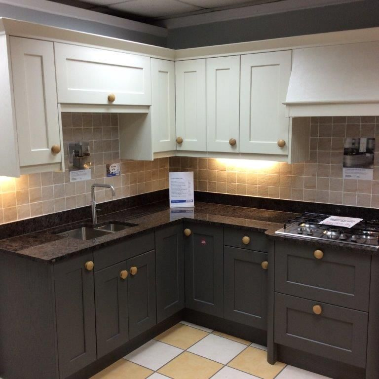Kitchen Showrooms Online jewson studio thornton painted oak kitchen in mussel & lava