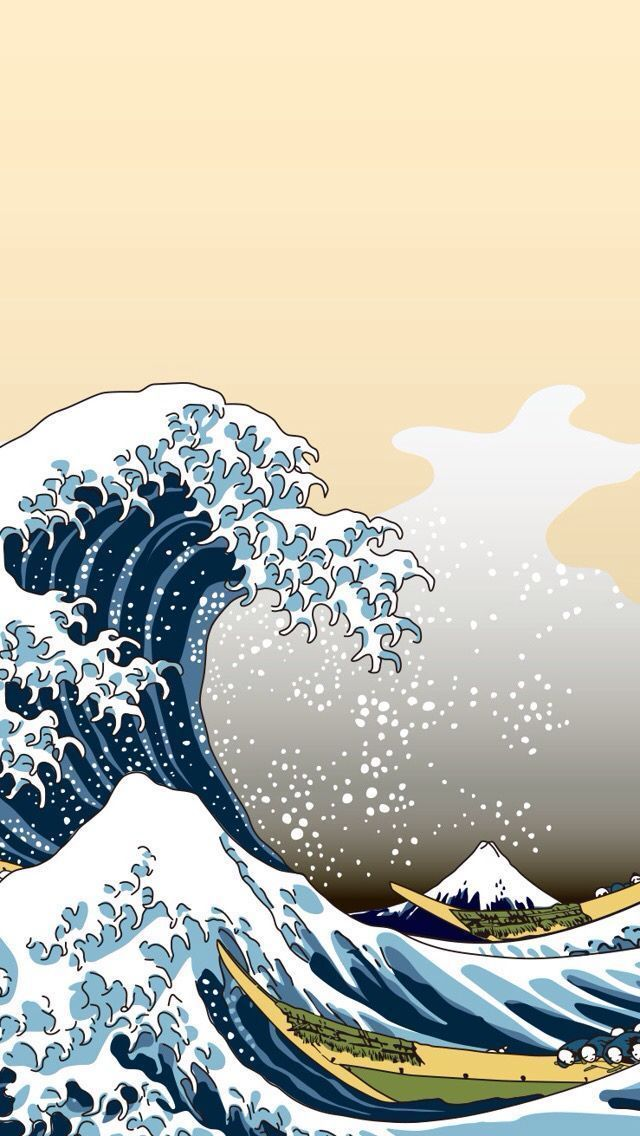 Aesthetic Wave Iphone Wallpaper