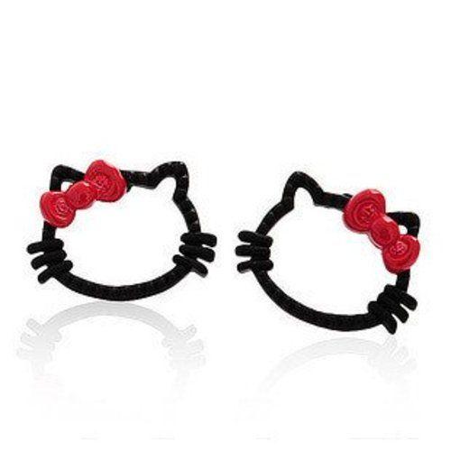 Magenta hello kitty earrings