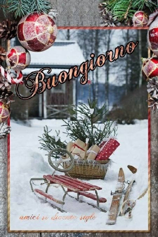 Buongiorno a tema Natale Italian memes, Vintage
