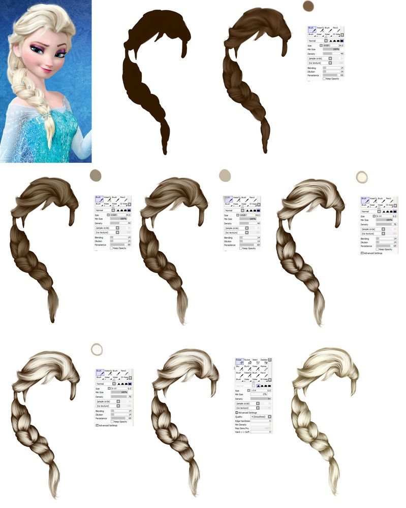 how to draw elsas hair from frozen tutorial by ryky