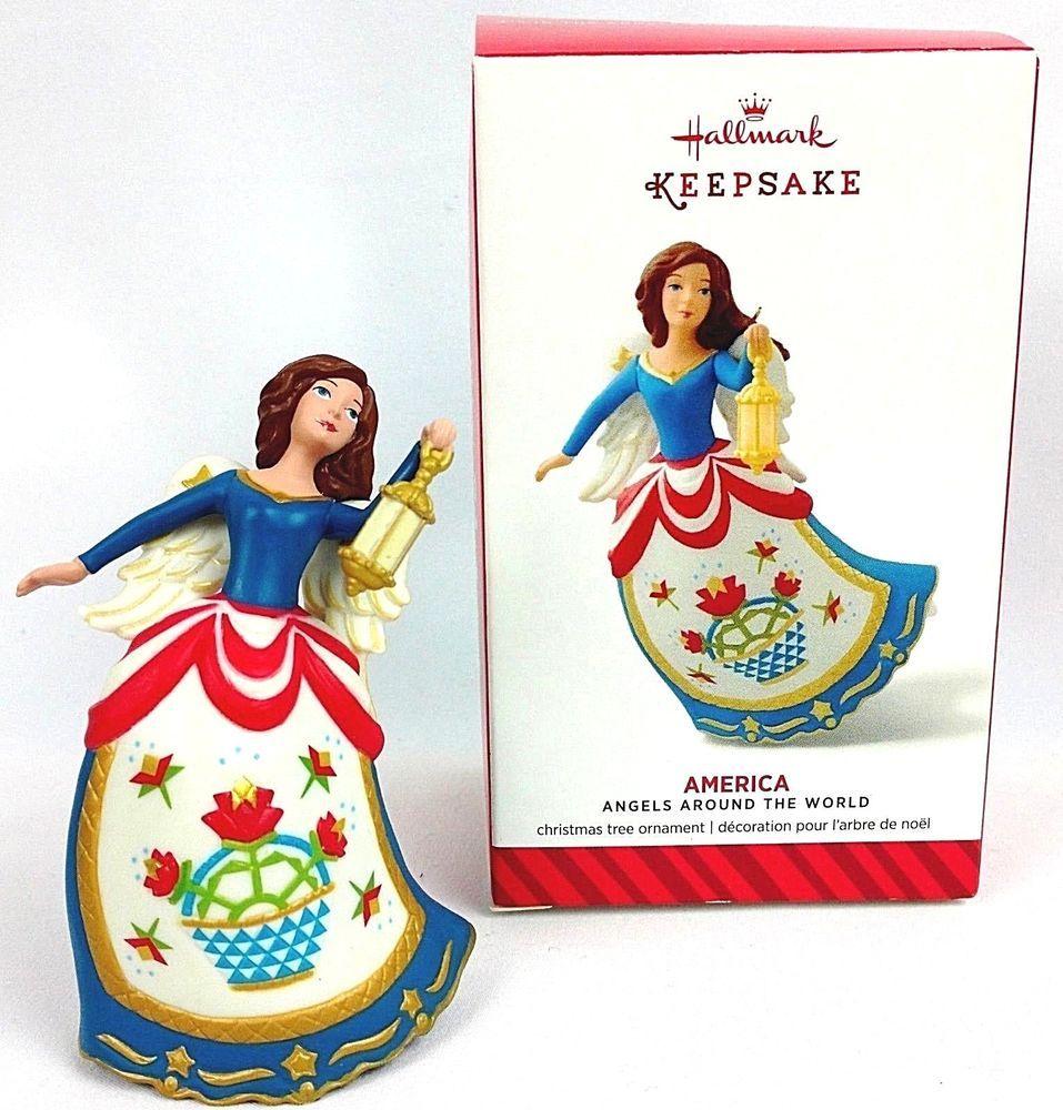 Details about Hallmark Keepsake Christmas Ornament Angels Around the World Series America USA ...
