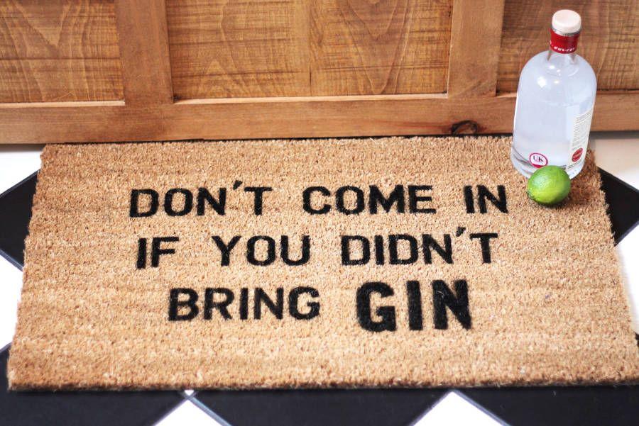 Gin Lover Doormat Housewarming Gift Gin Quotes Gin Gin Gifts
