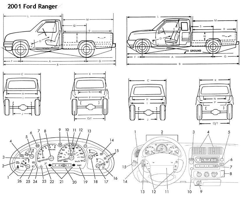 Image result for ford ranger blueprints | Vehicle blueprints ...
