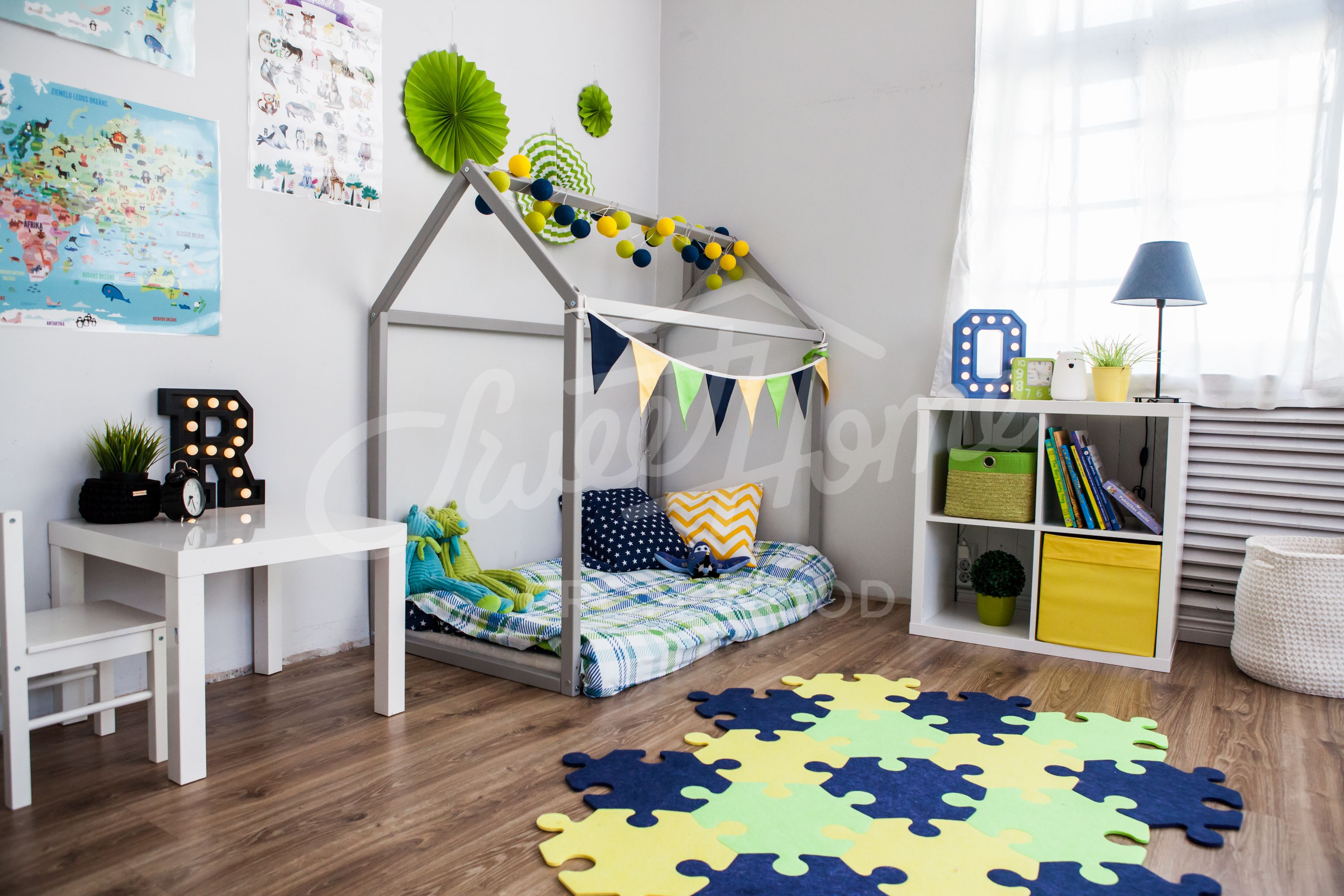 Blue Green And Yellow Boys Room Interior Ideas Nursery Decor Bright Colors