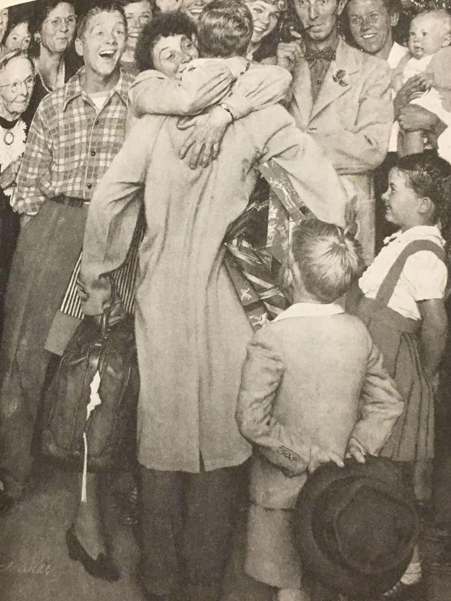 Christmas Homecoming Rockwell.Rockwell Norman Christmas Homecoming 1948 Norman Rockwell