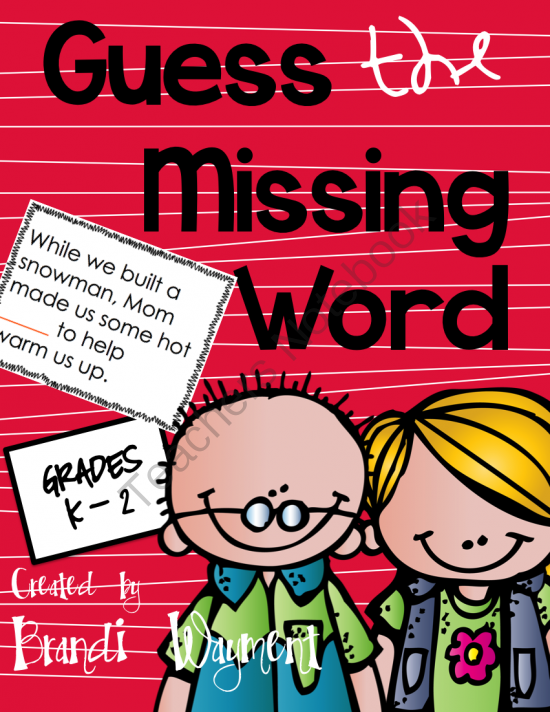 Guess The Missing Word Instructional Strategies Student Learning