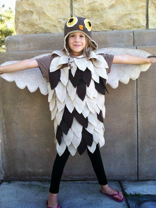 Homemade owl costume halloween pinterest explore owl costume diy owl costumes and more solutioingenieria Images