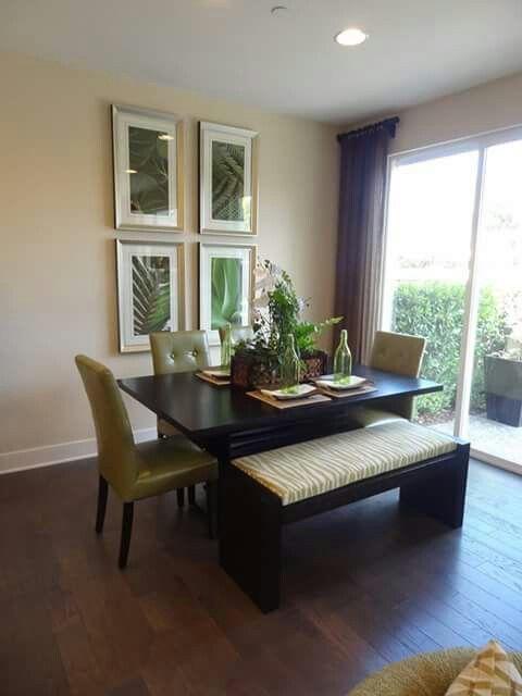 Comedor con banca espacio peque o apartamento for Comedores sencillos y pequenos