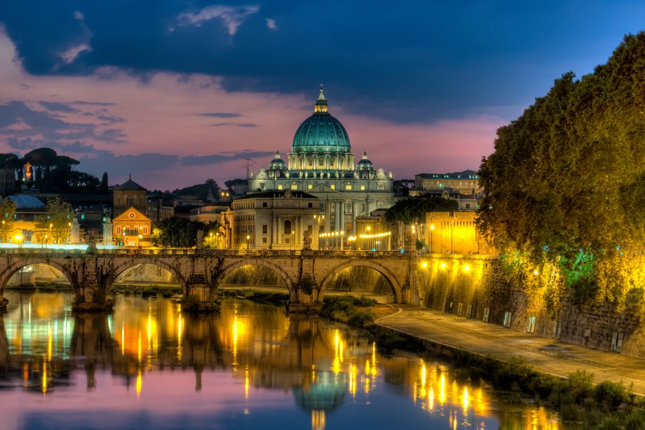 St Peter's Sunset  Vatican City  Rome, Italy